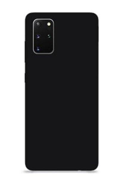 ETS Samsung Galaxy S20 Plus Içi Kadife Lansman Silikon Kılıf Siyah