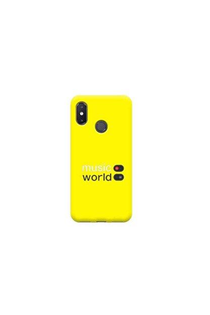 Kılıf Madeni Xiaomi Mi 8 Muzik Sarı Koleksiyon Telefon Kılıfı
