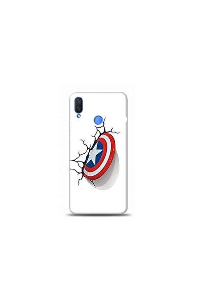 Kılıf Madeni Huawei Honor 10 Lite Captain America Tasarımlı Telefon Kılıf