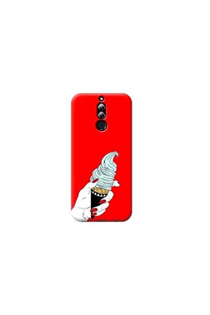 Kılıf Madeni Huawei Mate 10 Lite Dondurma Kırmızı Koleksiyon Telefon Kılıfı