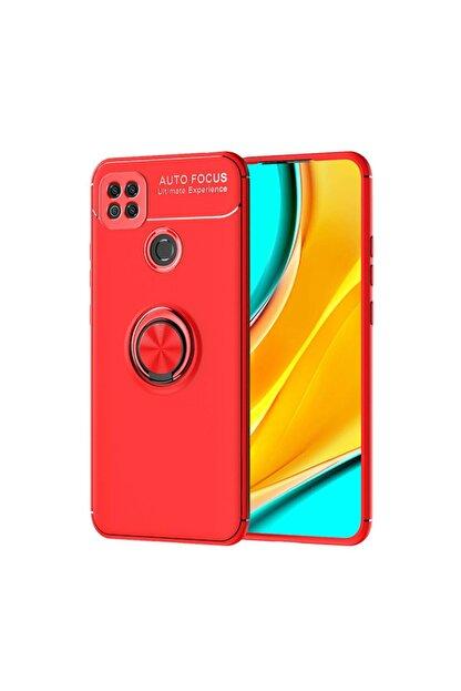 Happyshop Xiaomi Redmi 9c Kılıf Yüzüklü Manyetik Ravel Silikon+cam Ekran Koruyucu