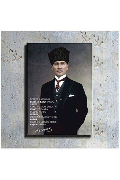mağazacım Atatürk Takım Elbiseli Portre (70x100 Cm) Kanvas Tablo Tbl1194