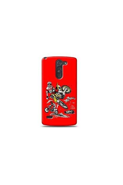 Kılıf Madeni Lg G3 Stylus Motorcu Kırmızı Koleksiyon Telefon Kılıf