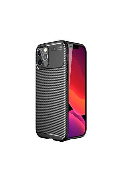 KNY Apple Iphone 12 Pro Max Kılıf Karbon Desenli Lux Negro Silikon+nano Cam Ekran Koruyucu