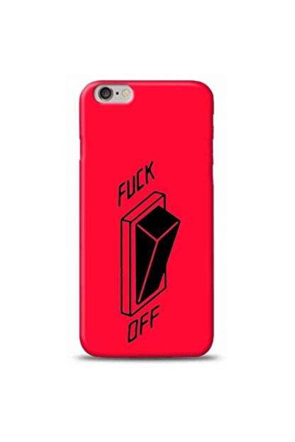 Kılıf Madeni Iphone 6 Plus 6s Plus Fuck Off Pembe Koleksiyon Telefon Kılıfı