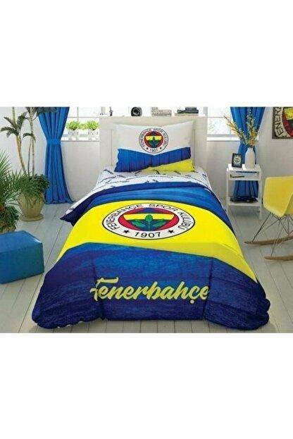 Taç Lisanslı Tek Kişilik Nevresim Takımı Fenerbahçe Wooden