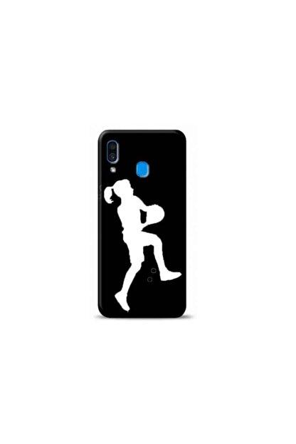 Kılıf Madeni Samsung Galaxy A30 Basketbolcu Siyah Koleksiyon Telefon Kılıfı