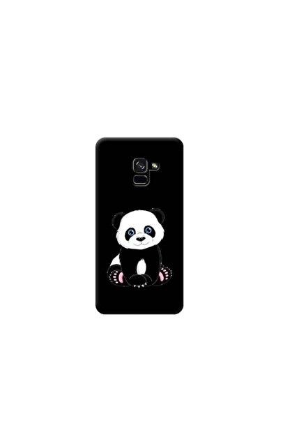 Kılıf Madeni Samsung Galaxy A8 2018 Plus Panda Siyah Koleksiyon Telefon Kılıfı