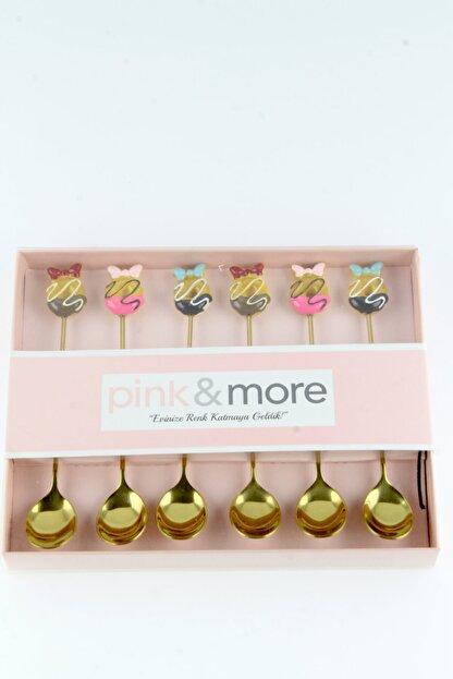 AROW Pink&More Altın Sarısı 6 Lı Çay Kaşığı Kurdela
