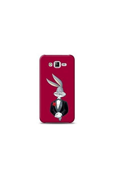 Kılıf Madeni Samsung Galaxy J5 Tavşan Mor Koleksiyon Telefon Kılıfı Ymtrklf060