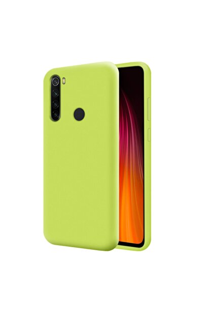 Mobilteam Xiaomi Redmi Note 8 Neon Sarı İçi Kadife Lansman Kılıf