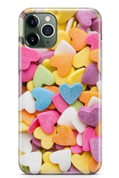Zipax Huawei P40 Kılıf Şeker Kalpler Desenli Baskılı Silikon Kilif - Mel-109580