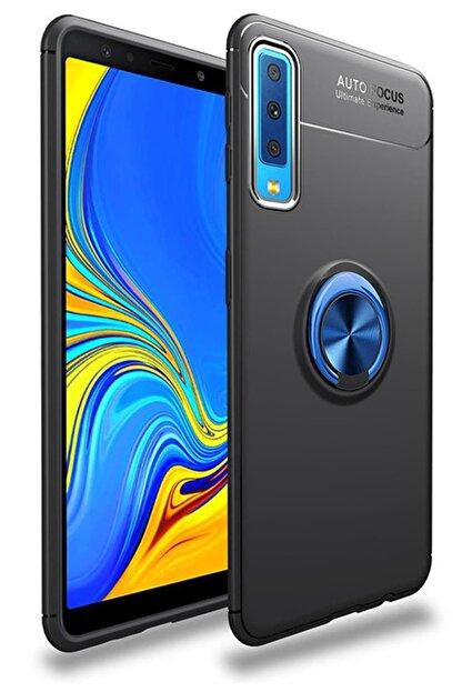 zore Samsung Galaxy A70 Kılıf A705 Selfie Yüzüklü Esnek Silikon Rvl