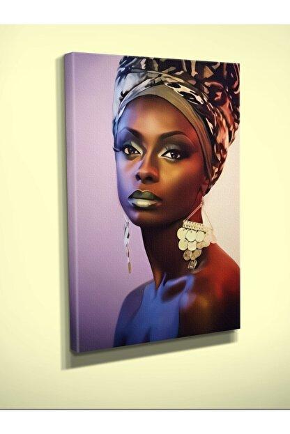 EKON Leshoto Afrikalı Kadın Baskılı Kanvas Tablo 70 X 100