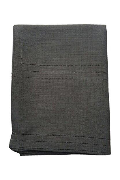 erciyesceyiz Siyah Keten Kumaş Çizgi Masa Örtüsü 160*220 cm