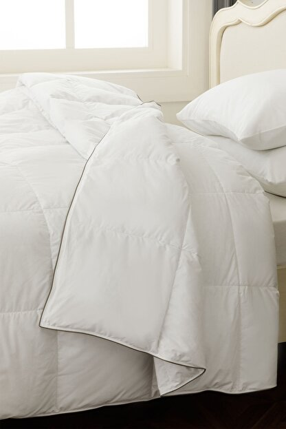 English Home Super Soft Kaz Tüyü Çift Kişilik Yorgan 195x215 Cm Beyaz
