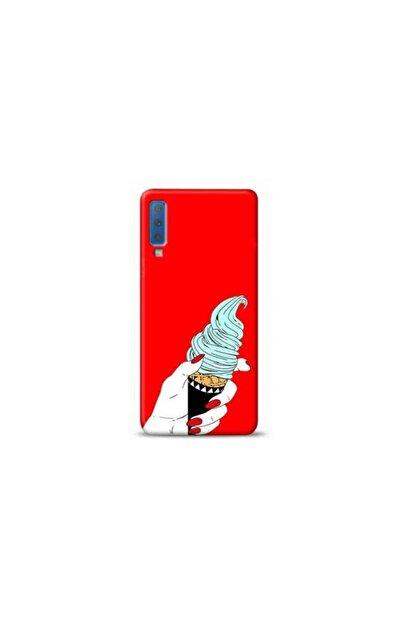 Kılıf Madeni Samsung A30s Dondurma Kırmızı Koleksiyon Telefon Kılıfı