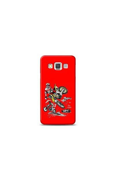 Kılıf Madeni Samsung Galaxy A3 Motorcu Kırmızı Koleksiyon Telefon Kılıfı