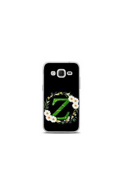 Kılıf Madeni Samsung Core Prime Z Harfli Papatya Tasarimli Telefon Kilifi Y-papatyaz