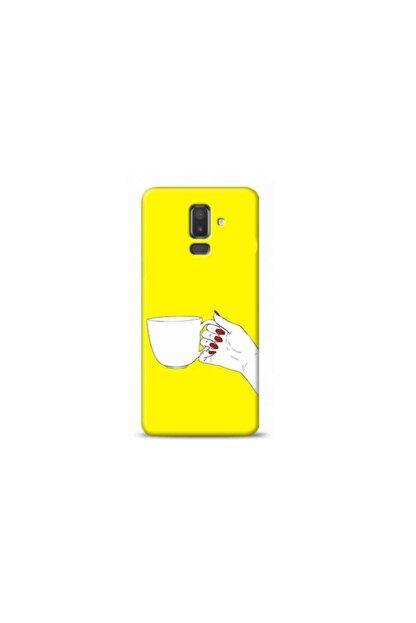 Kılıf Madeni Samsung Galaxy A6 Plus Kahve Sarı Koleksiyon Telefon Kılıfı