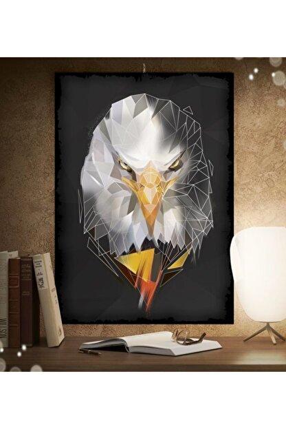 Tontilika Kartal Hayvan Çizim Tasarım 15x21cm Hediyelik Dekoratif 8mm Ahşap Tablo