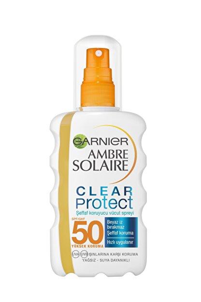 Garnier Ambre Solaire Clear Protect Şeffaf Vücüd Spreyi Gkf50 200ml