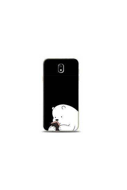 Kılıf Madeni Samsung Galaxy J7 Pro Ayı Siyah Koleksiyon Telefon Kılıfı Y-syhklf045