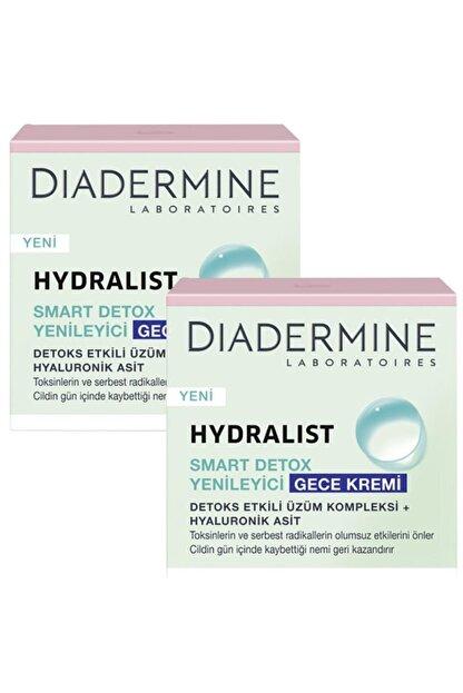 Diadermine Hydralist Detoks Yenileyici Gece Kremi 50 Ml. 2'li (üzüm Kompleksi-hyaluronik Asit)
