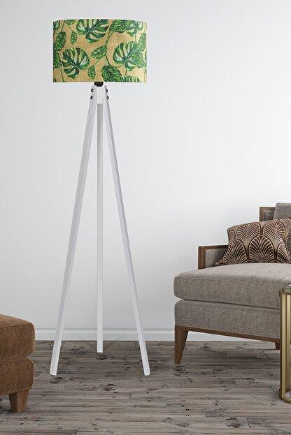 MyLightConcept Dekoratif Özel Tasarım Dijital Baskılı Yeni Trend Kumaş Lambader Beyaz Ayak/mlc095