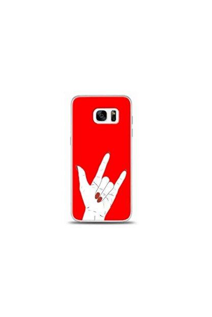 Kılıf Madeni Samsung Galaxy S7 Edge Rock Kırmızı Koleksiyon Telefon Kılıfı Y-krmklf007