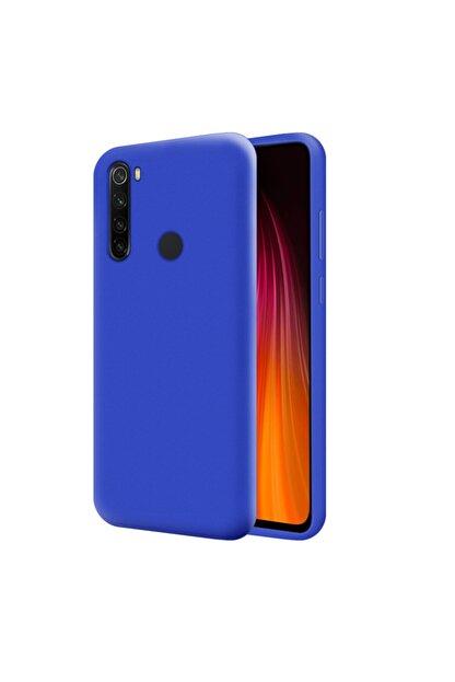 Mobilteam Xiaomi Redmi Note 8 Kılıf Içi Kadife Lansman Kapak Mavi