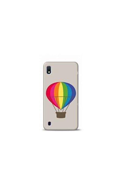 Kılıf Madeni Samsung Galaxy A10 Ucan Balon Tasarımlı Telefon Kılıfı Y-minimalkf0042