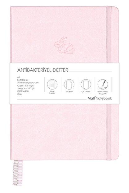 Matt Notebook A5 Antibakteriyel Defter Çizgili Pembe