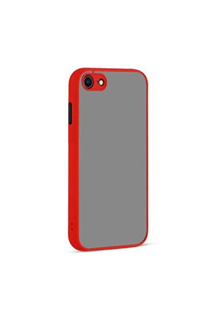 Fibaks Apple Iphone 8 Kılıf Kamera Korumalı Mat Renkli Buzlu Hux Silikon