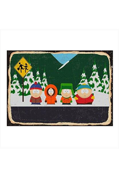 Tablomega Ahşap Tablo South Park 25cm X 35cm
