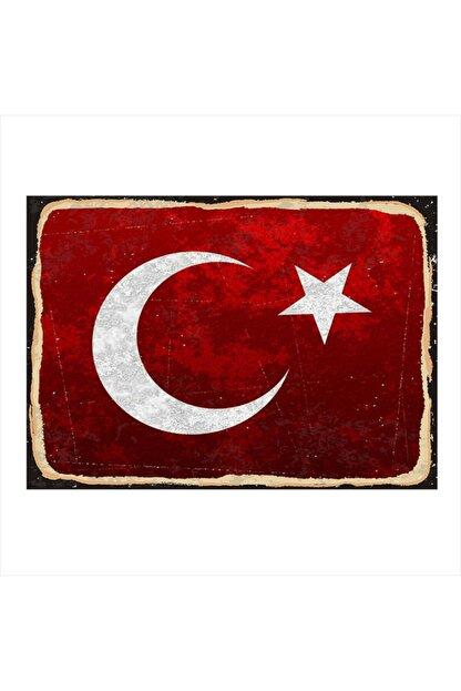 Tablomega Ahşap Tablo Türk Bayrağı 25cm X 35cm