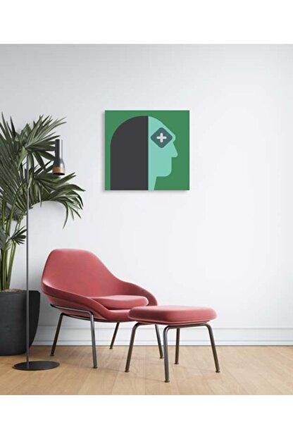 Sizy Mdf Tablo - Puzzle Yeşil Tenli Kadın