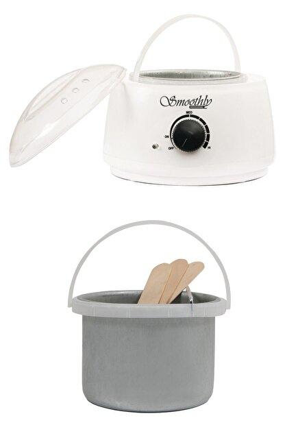 Smoothly Isı Ayarlı Sir Ağda Makinesi, Kalıp Ağda Boncuk Ağda Konserve Ağda Uyumlu Ağda Kazanı Beyaz Renk
