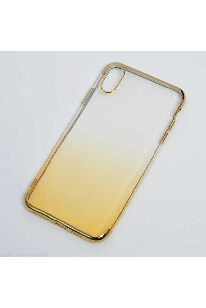 Zore Apple Iphone Xs Max 6.5 Kılıf Zore Moss Silikon Gold