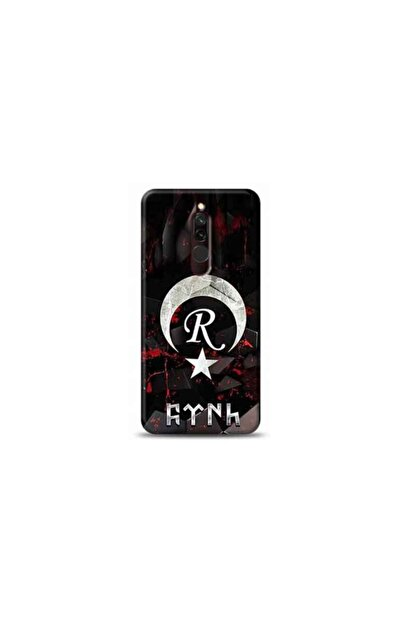 Kılıf Madeni Xiaomi Redmi 8 R Harfli Bayrak Tasarimli Telefon Kilifi Y-bayrakr