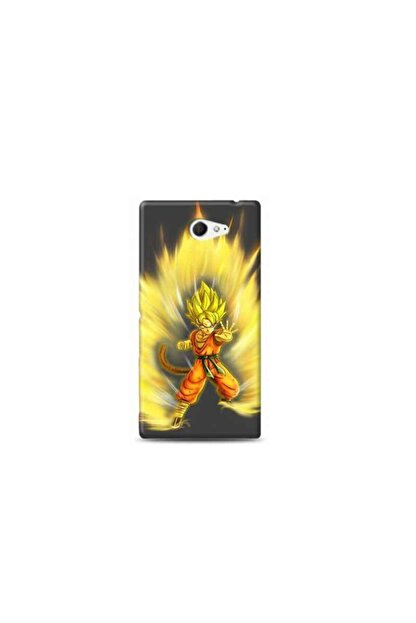 Kılıf Madeni Sony Xperia M2 Dragon Ball Tasarimli Telefon Kilifi Y-dragon0010