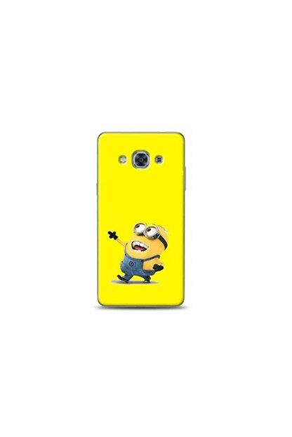 Kılıf Madeni Samsung Galaxy J3 Pro 3 Delikli Minyonlar Sarı Koleksiyon Telefon Kılıfı Y-srklf077