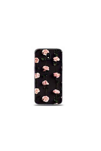 Kılıf Madeni Samsung Galaxy J3 Pro Tek Delikli Gül Tasarımlı Telefon Kılıfı Y-bayanlara0039