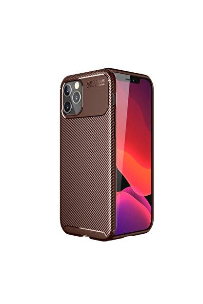 KNY Apple Iphone 12 Pro Kılıf Karbon Desenli Lux Negro Silikon+cam Ekran Koruyucu