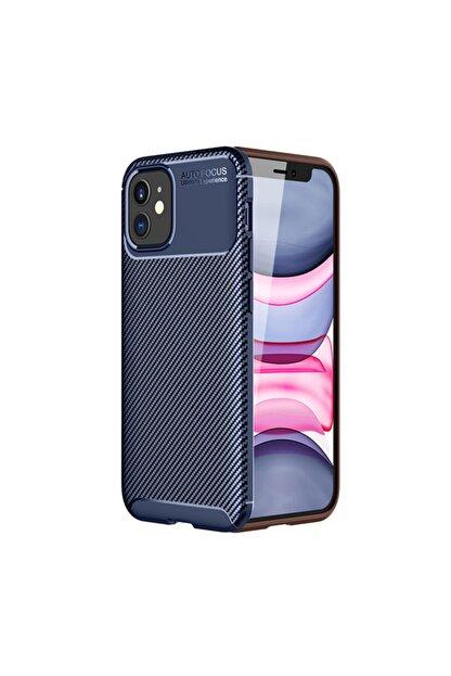 KNY Apple Iphone 12 Kılıf Karbon Desenli Lux Negro Silikon+nano Cam Ekran Koruyucu