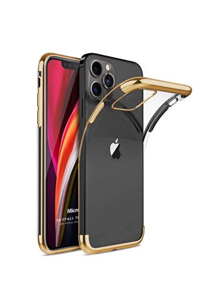 Microsonic Apple Iphone 12 Pro Max Kılıf Skyfall Transparent Clear Gold