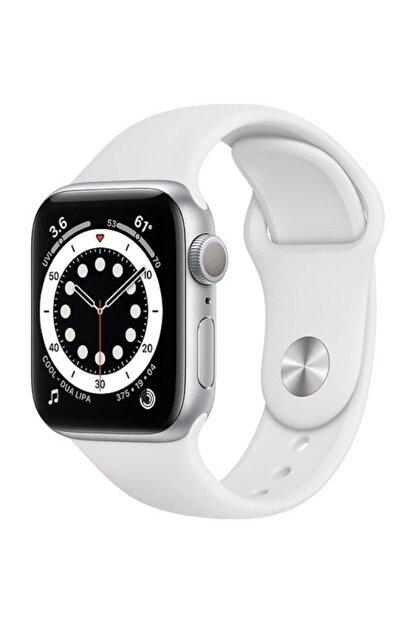 Apple Watch Series 6 Gps 40 Mm Gümüş Rengi Alüminyum Kasa Ve Beyaz Spor Kordon