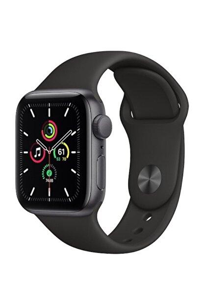 Apple Watch Se Gps 44 Mm Uzay Grisi Alüminyum Kasa Ve Siyah Spor Kordon