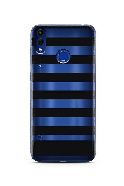 Spoyi Çizgi Tasarımlı Süper Şeffaf Silikon Telefon Kılıfı Huawei Honor 8c
