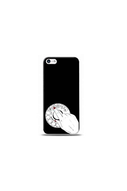 Kılıf Madeni Iphone 5c Telefon Siyah Koleksiyon Telefon Kılıfı Y-syhklf018